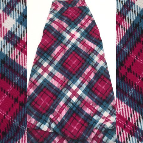 Argyle Plaid - Fuchsia and Teal - Nudie Patooties  Sphynx cat clothes for your sphynx cat, sphynx kitten, Donskoy, Bambino Cat, cornish rex, peterbald and devon rex cat.