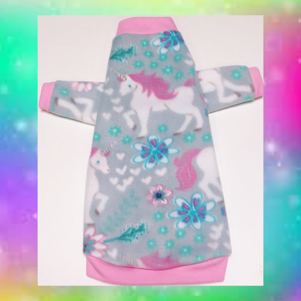 "Long Sleeve Pink Unicorn Fleece ""Magical"" - Nudie Patooties"