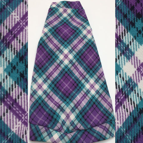 Argyle Plaid - Purple, Teal, & White - Nudie Patooties  Sphynx cat clothes for your sphynx cat, sphynx kitten, Donskoy, Bambino Cat, cornish rex, peterbald and devon rex cat.
