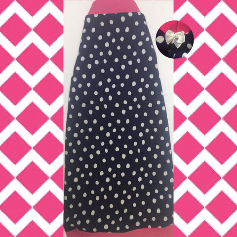 "Organic Cotton T-Shirts Navy and White Polka Dots ""Mollie"" - Nudie Patooties"