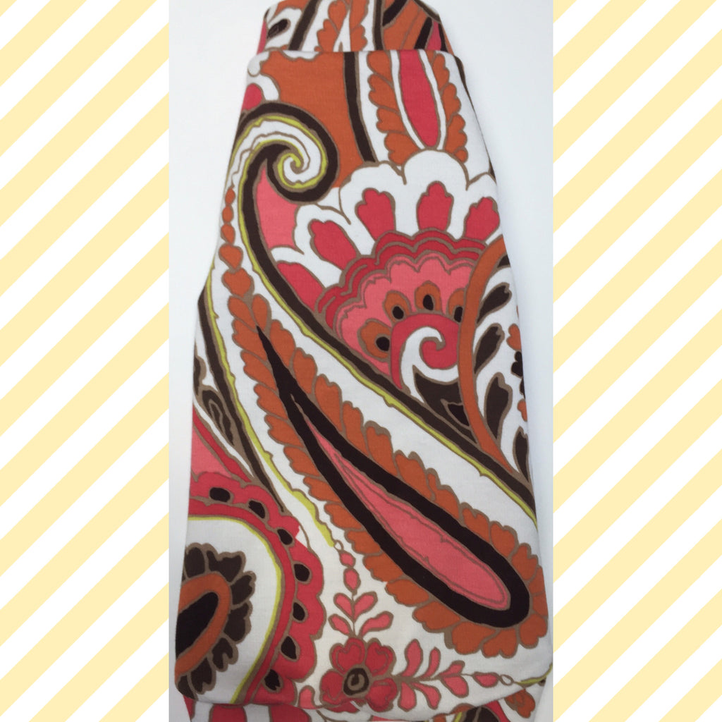 Orange, Brown, and Pink Paisley
