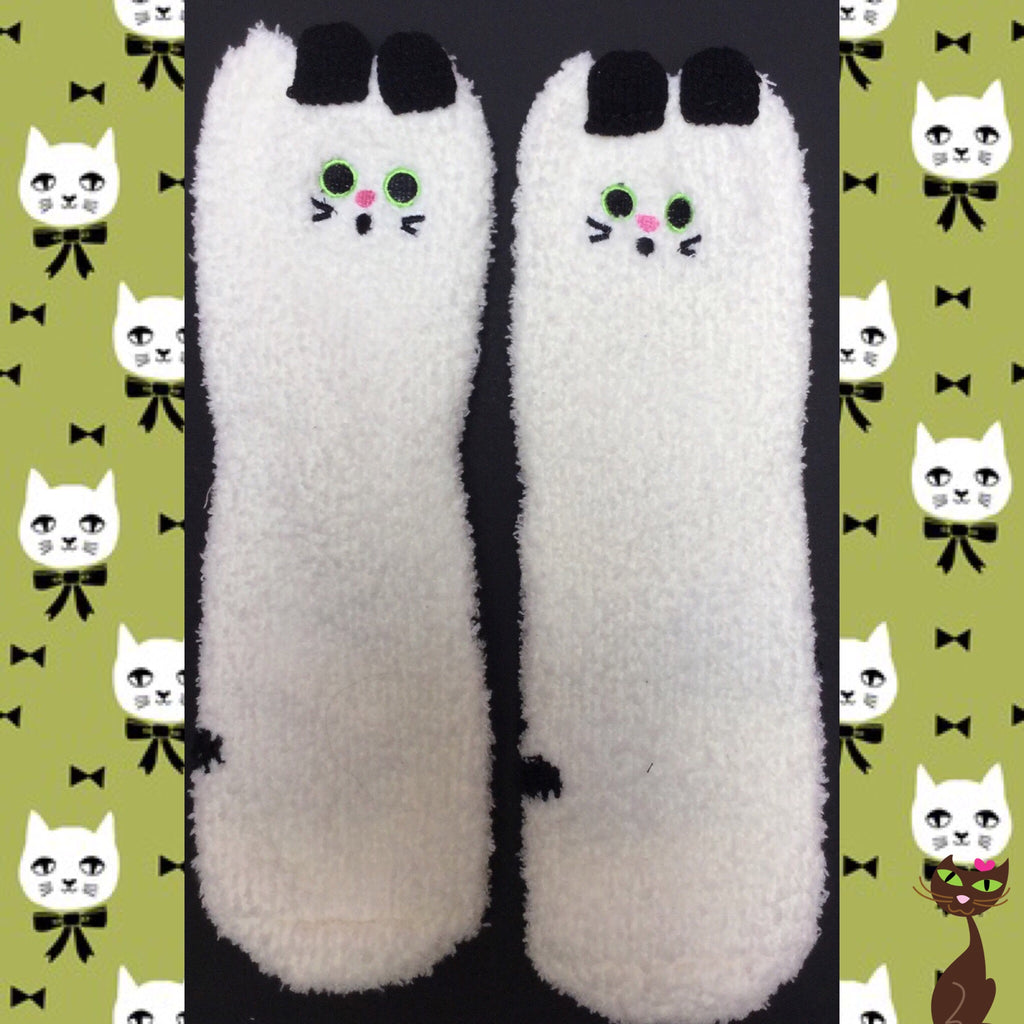 Fuzzy Cat Socks - Nudie Patooties