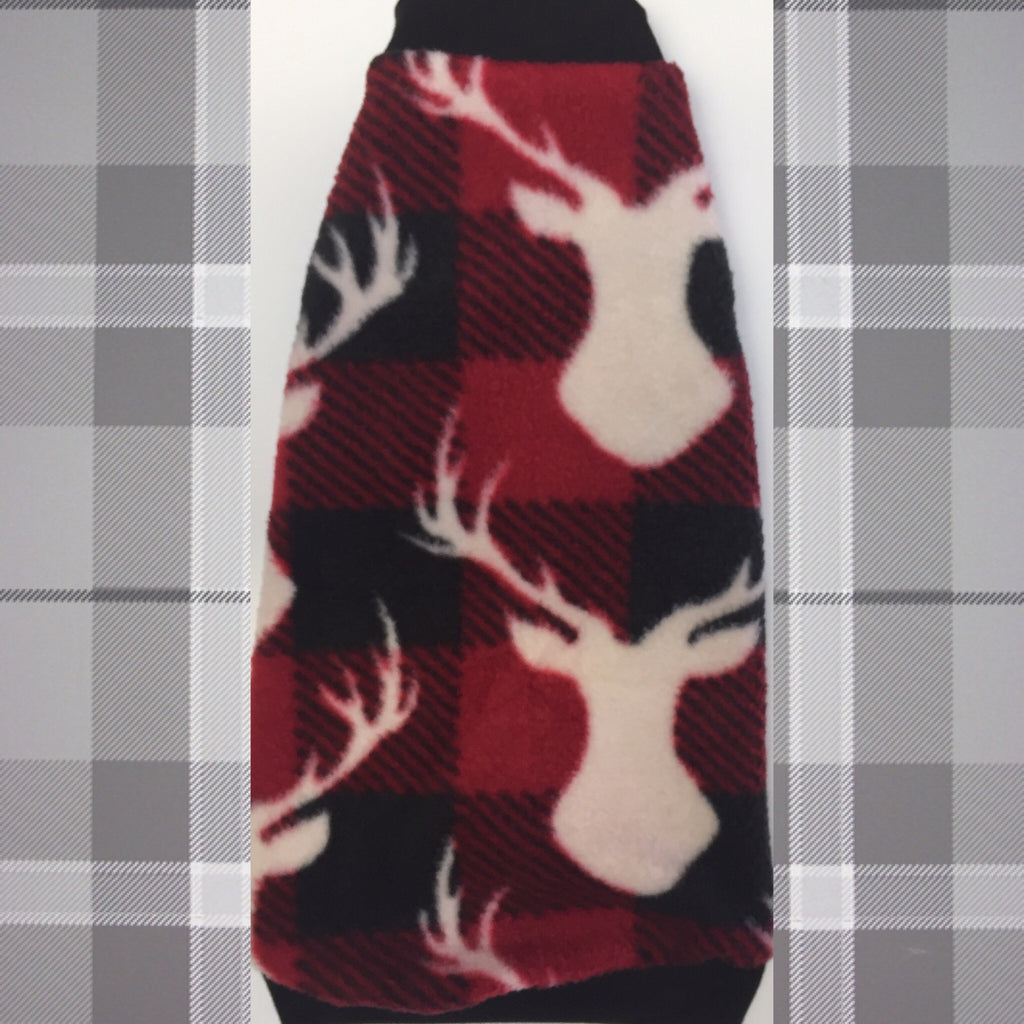 "Red and Black Deer Fleece ""Big Bucks"" - Nudie Patooties"