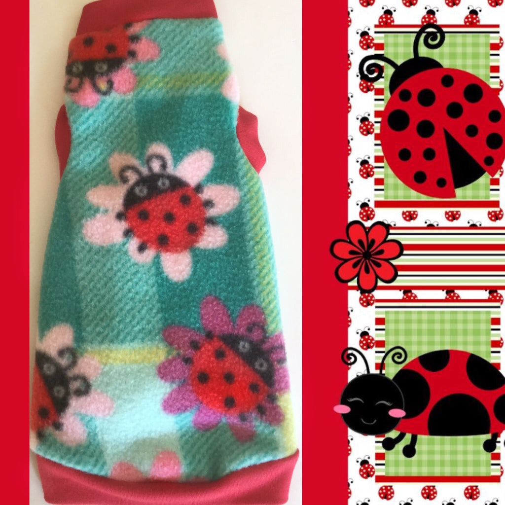 "Ladybug and Flower Fleece ""Pretty Little Ladies"""