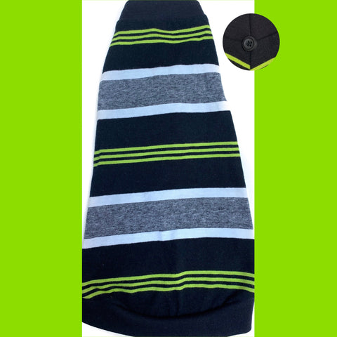 Lime Green, Black, and Grey Stripe