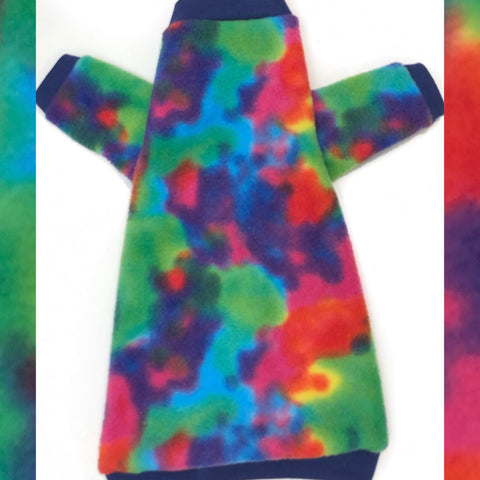 "Long Sleeve Bright Multi-Colored Fleece""Gobsmacked!"""