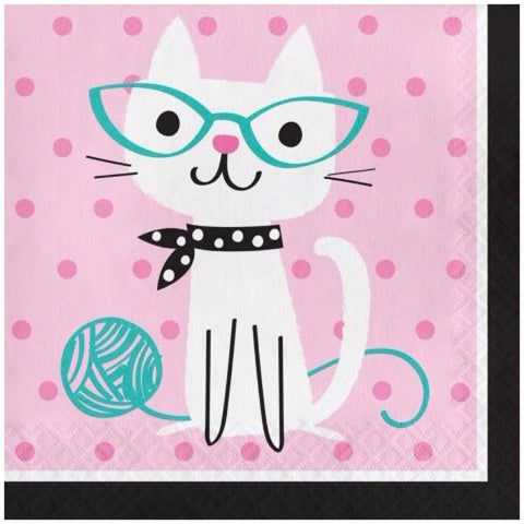 Cat Lunch Napkins - Nudie Patooties