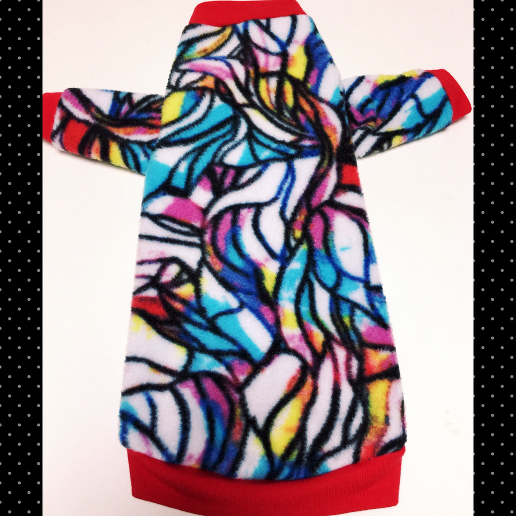 "Long Sleeve Colorful Fleece ""Tattoo Stained Glass"" - Nudie Patooties"