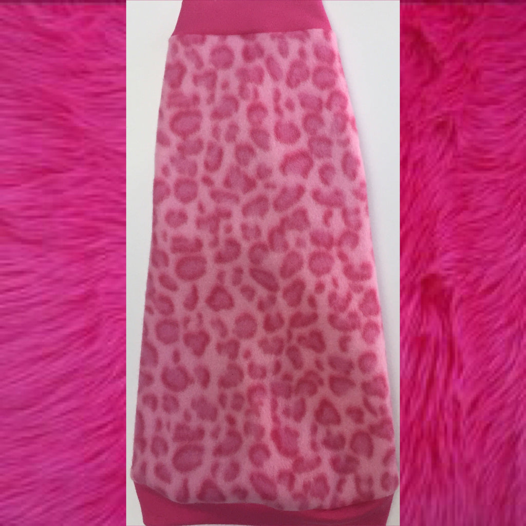 "Pink Leopard Fleece ""Venus"""