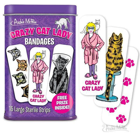 Crazy Cat Lady Bandages - Nudie Patooties
