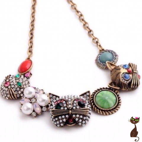 Mixed Media Cat Choker - Nudie Patooties