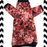 "Long Sleeve Pink Roses Fleece ""Take Time to Smell the Roses"""