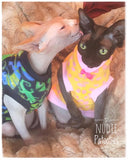 "Blue and Green Lizard Fleece ""Little Lizard"" - Nudie Patooties  Sphynx cat clothes for your sphynx cat, sphynx kitten, Donskoy, Bambino Cat, cornish rex, peterbald and devon rex cat."