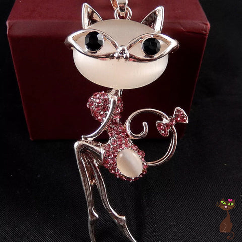 Pink Cat Lady Necklace - Nudie Patooties