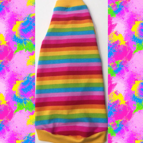 Bright Colorful Stripe - Nudie Patooties  Sphynx cat clothes for your sphynx cat, sphynx kitten, Donskoy, Bambino Cat, cornish rex, peterbald and devon rex cat.