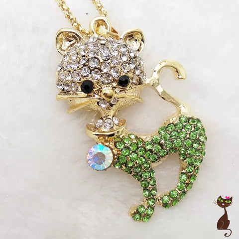 Green Cat Necklace - Nudie Patooties