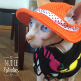 "Colorful Mustache Fleece ""Shave it for Later"" - Nudie Patooties  Sphynx cat clothes for your sphynx cat, sphynx kitten, Donskoy, Bambino Cat, cornish rex, peterbald and devon rex cat."