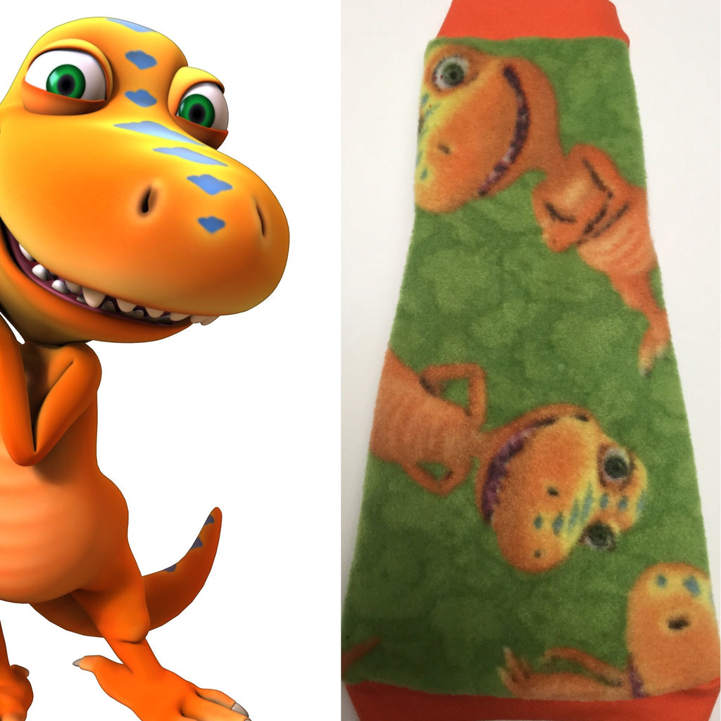 "Green and Orange Dinosaur ""Buddy"" - Nudie Patooties"