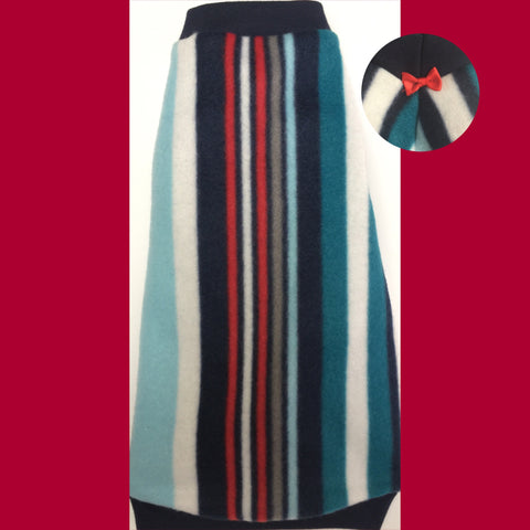 "Blue, White, and Red Stripe Fleece ""Earn Your Stripes"""