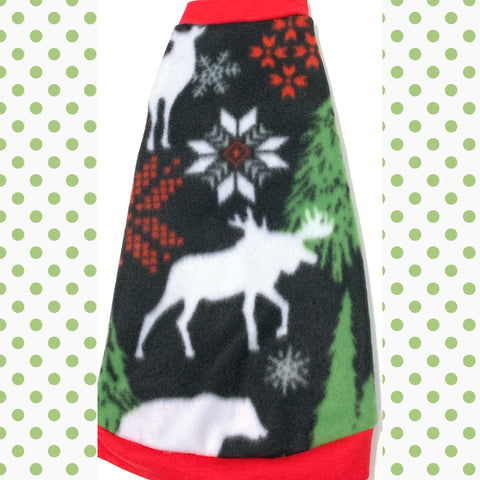 "Black Woodland Fleece ""Christmas Wonderland"""