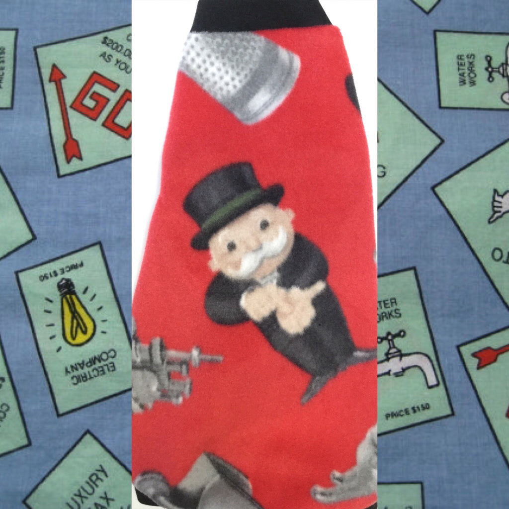 "Red Monopoly Man Fleece ""Rich Uncle Pennybags"""