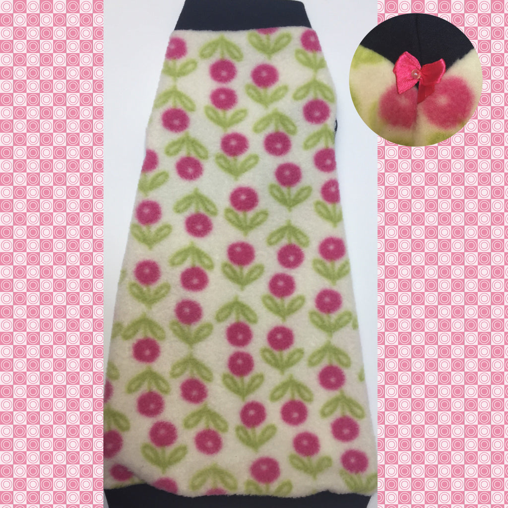 "Pink Flower Fleece ""Fresh and Fun"""