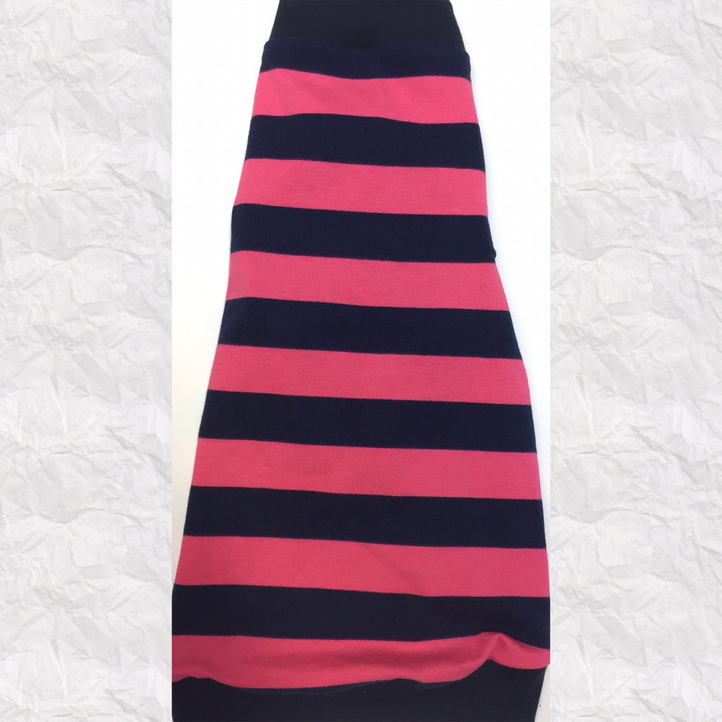 Pink and Navy Stripe