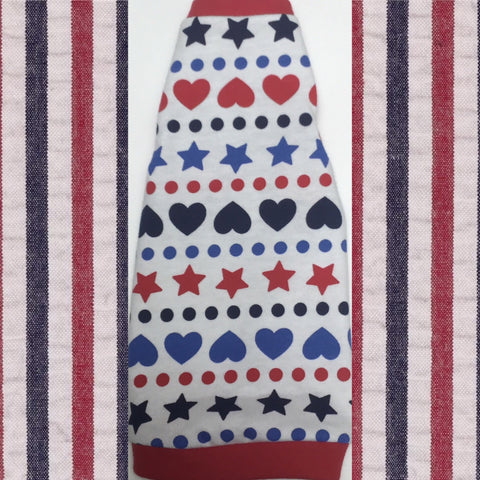 Red White and Blue Hearts and Stars - Nudie Patooties