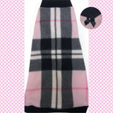 "Black and Baby Pink Plaid Fleece ""Heaven Sent"" - Nudie Patooties  Sphynx cat clothes for your sphynx cat, sphynx kitten, Donskoy, Bambino Cat, cornish rex, peterbald and devon rex cat."