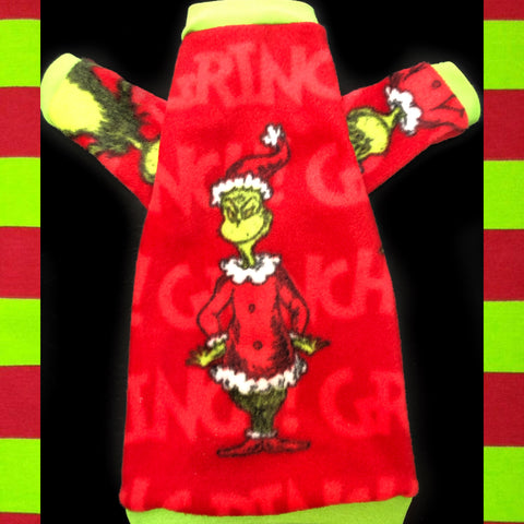 "Long Sleeve Christmas Grinch Fleece ""Here for the Roast Beast"""