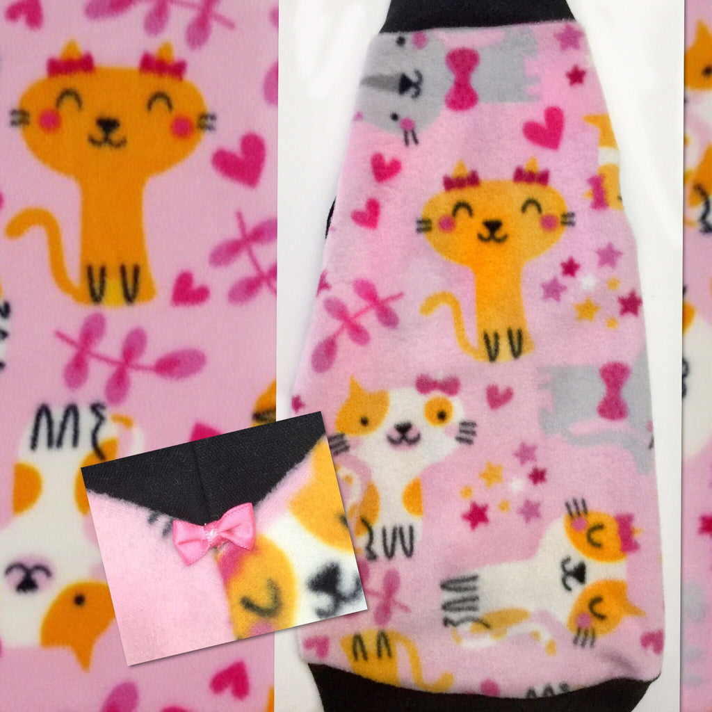 "Pink Cat Fleece ""Cute Cats"" - Nudie Patooties"