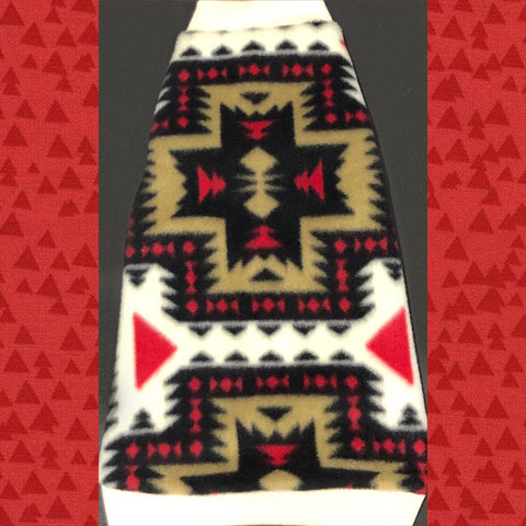 "Aztec Rib Knit Trim Fleece ""Love My Tribe"""