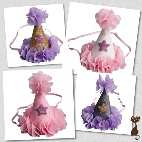 Chiffon Party Hat for Cats - Nudie Patooties