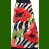 "Red, black, and green flower fleece ""Poppy"" (fur collar option available!) - Nudie Patooties"