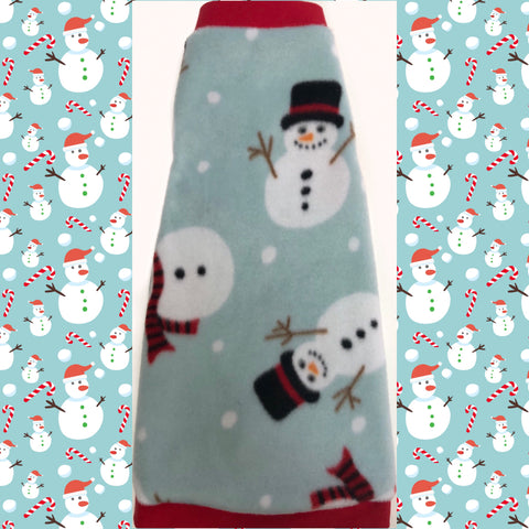 "Christmas Fleece ""Melting for You"" - Nudie Patooties  Sphynx cat clothes for your sphynx cat, sphynx kitten, Donskoy, Bambino Cat, cornish rex, peterbald and devon rex cat."