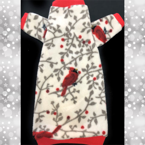 "Long Sleeve Christmas Fleece ""Christmas Cardinal"""