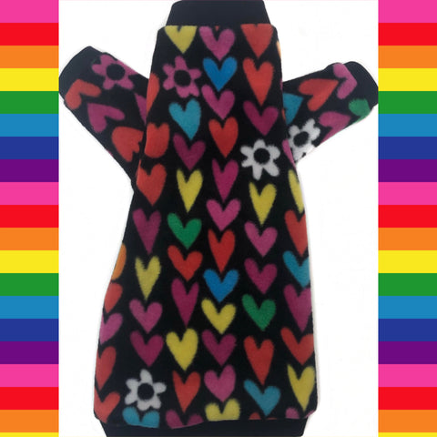 "Long Sleeve Colorful Heart Fleece ""All You Need is Love"""