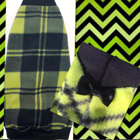 "Green Plaid Fleece ""Always Believe"" - Nudie Patooties"