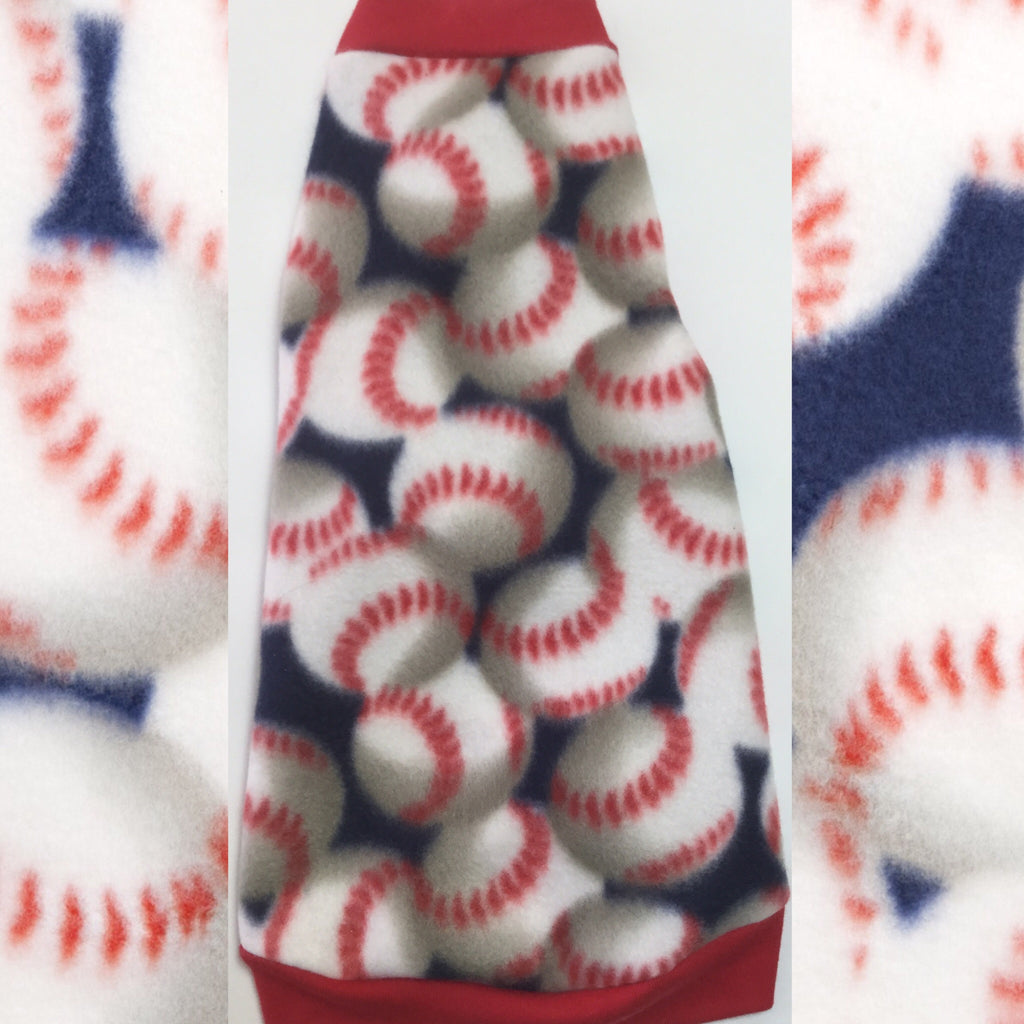 "Baseball Fleece ""Grand Slam"" - Nudie Patooties  Sphynx cat clothes for your sphynx cat, sphynx kitten, Donskoy, Bambino Cat, cornish rex, peterbald and devon rex cat."