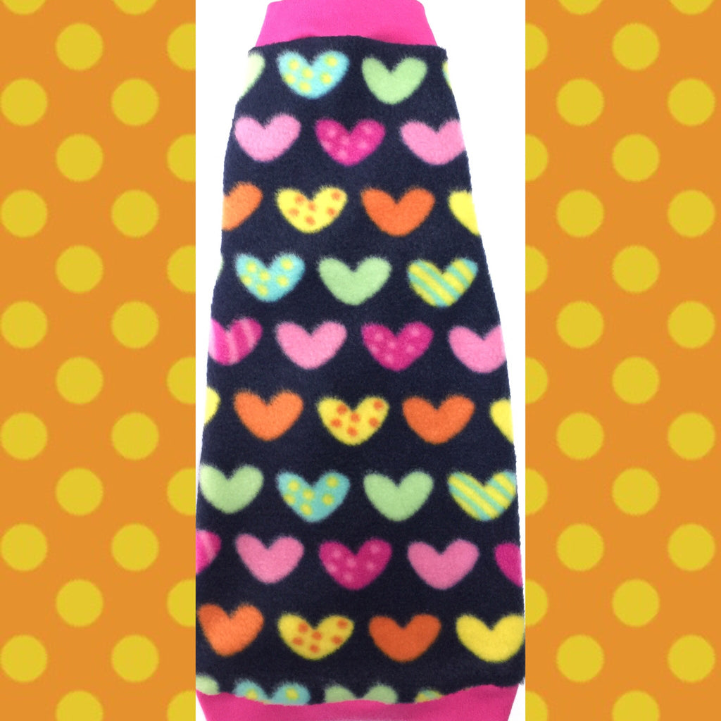 "Colorful Heart Fleece ""Love Me, Love Me, Say that you Love Me"""