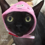 Animal Hat for Cats - Nudie Patooties  Sphynx cat clothes for your sphynx cat, sphynx kitten, Donskoy, Bambino Cat, cornish rex, peterbald and devon rex cat.