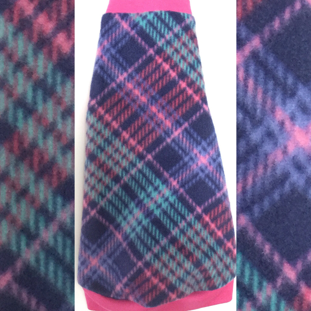 "Pink and Purple Fleece ""Snazzy"""