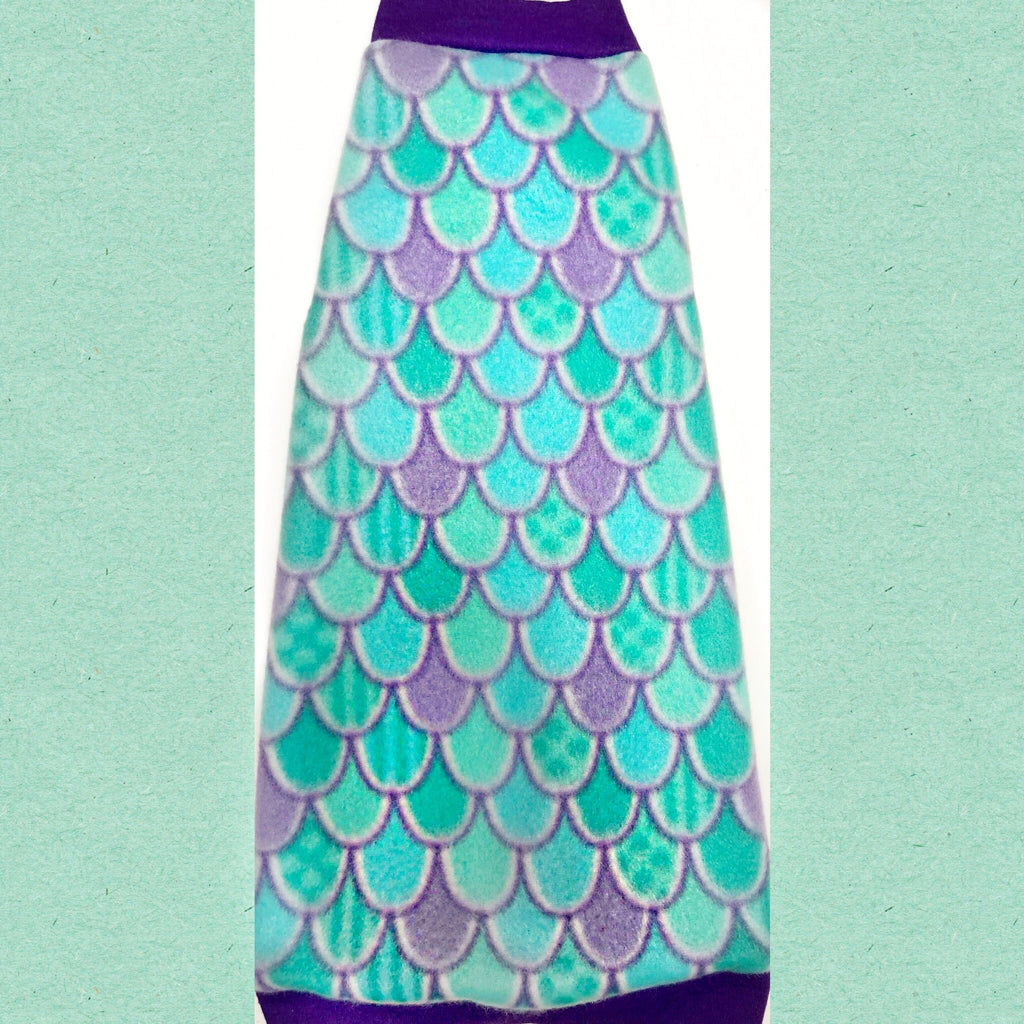 "Purple and Turquoise Fleece ""Mermen Scales"""