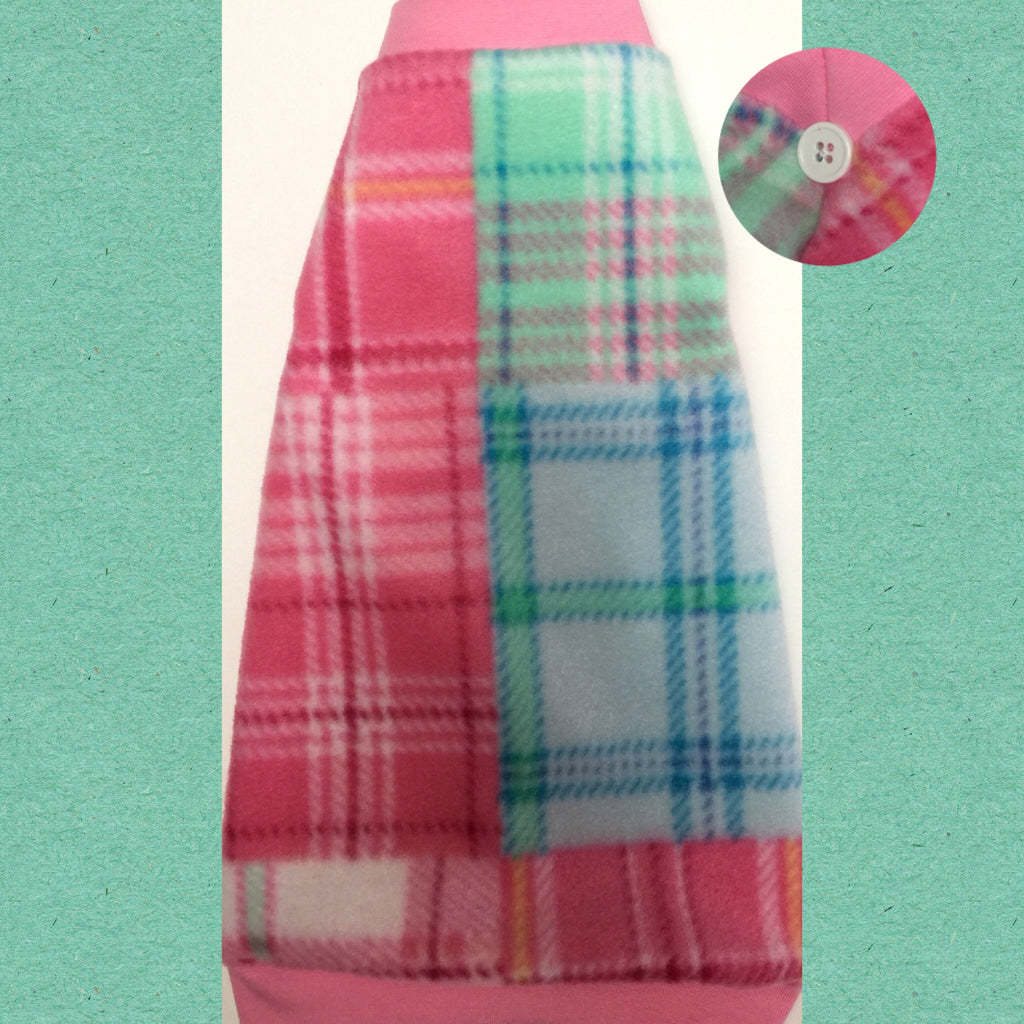 "Pink and Blue Plaid Fleece ""Perfect Plaid"" - Nudie Patooties"