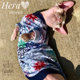 long sleeve sun protection shirt for your sphynx cat. sphynx clothes. cat clothes