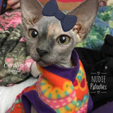 Sphynx Cat Fleece Clothes / clothes for cats/ cat overalls /cat shirt/ cat sweater/ cat sweatshirt/ pet sweater/ Sphynx cat clothes/ Sphynx clothing / cats clothes/ shirt for cat/ cat clothes/ designer cat clothes/ cat pjs
