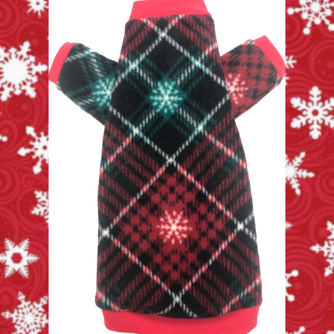"Long Sleeve Snowflake Plaid Shirt ""Keepin' Cozy"""