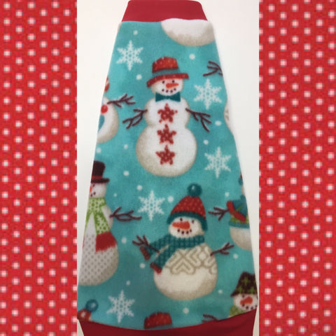 "Christmas Fleece ""Let It Snow-Man"" - Nudie Patooties  Sphynx cat clothes for your sphynx cat, sphynx kitten, Donskoy, Bambino Cat, cornish rex, peterbald and devon rex cat."