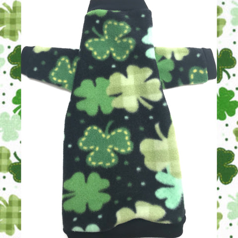 "Long Sleeve Black and Green Fleece ""Little Leprechaun"" - Nudie Patooties"