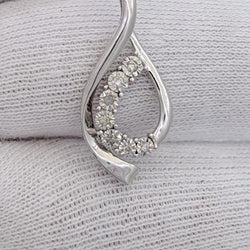 Diamond Pendant Sterling Silver